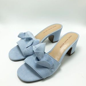 Who What Wear Sandals Suede Block Size 6.5 (SH63)